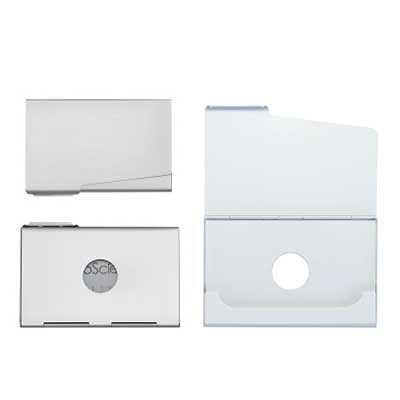 Queen's Brindes - Porta Cartão Alumínio