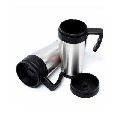 Servgela - Caneca térmica personalizada em alumínio com alça de mão.