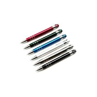 servgela - Caneta personalizada metálica, cores variadas