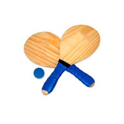 Servgela - Kit Frescobol Personalizado | Kit de Frescobol personalizado em madeira maciça de Pinus. Incluso: 02 raquetes com cabo emborrachado e 01 bolinha embal...