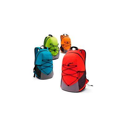 servgela - Mochila, bolsos laterais em rede e bolso interior. Parte posterior almofadada. 04 opções de cores vibrantes, impressão da logomarca em bordado
