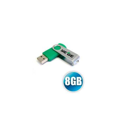 Pen drive personalizado com capacidade de 8GB.