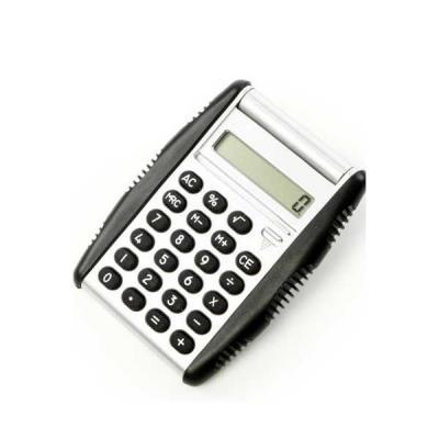 Calculadora Personalizada com detalhes em borracha e 8 dígitos.