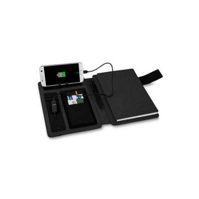 Servgela - Caderno Executivo com Powerbank Personalizado