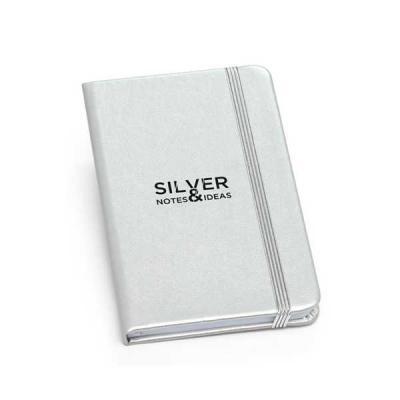 servgela - Caderno  Capa Metalizada para Brindes