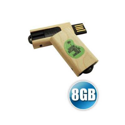 servgela - Pen drive de Madeira 8GB Personalizado