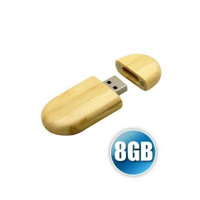 Servgela - Pen drive 8 GB ecológico com tampa