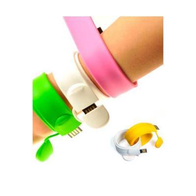 servgela - Pen Drive Pulseira Colorida Personalizada