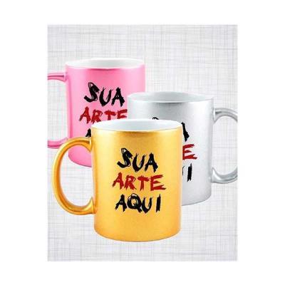 servgela - Caneca de Porcelana Colorida Personalizada