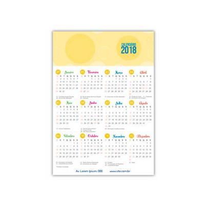 Calendário Imã de Geladeira Personalizado - Servgela