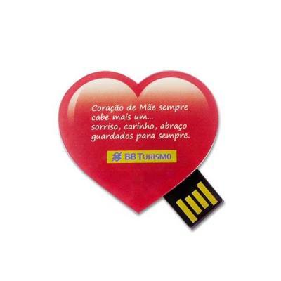 Servgela - Pen Drive Estilizado em Formato de Coração