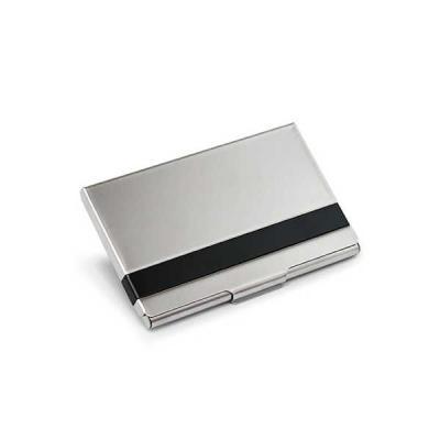 servgela - Porta Cartão de Visita Aluminio para Brindes