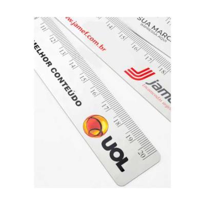 Regua de PVC Personalizada para Brindes - Servgela
