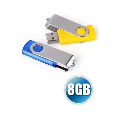 Pen Drive 8GB Giratório Personalizado