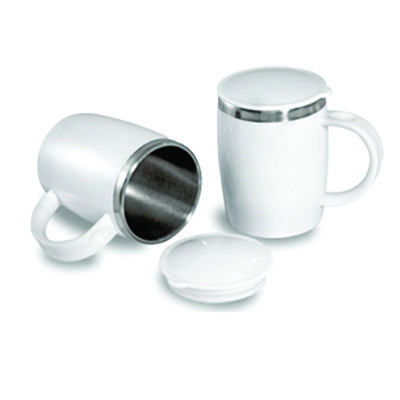 Connection Brindes - Caneca t�rmica com tampa.