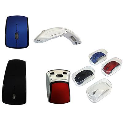 Connection Brindes - Mouse sem fio dobrável, em caixa acrílica Alto desempenho e qualidade