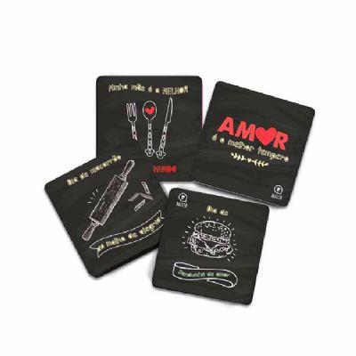 raizler - Porta-copos magnético - kit com 4 peças