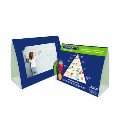 Papel cartão de alta qualidade, tamanho 20x46cm, cores 4x0. - Raizler