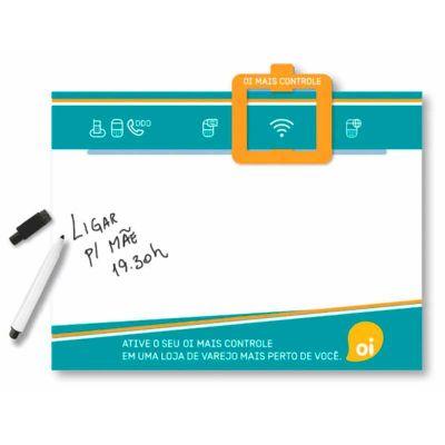 Raizler - Lousa Magnética, pode ser usada como memo board para anotações com impressão personalizável.