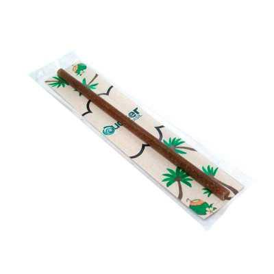 Canudo de Fibra de coco desenvolvido pela nossa equipe, acompanha embalagem e tag. Canudo e Tag personalizáveis. Produto Inovador e para Reuso  Peso 6... - SP Ecologia