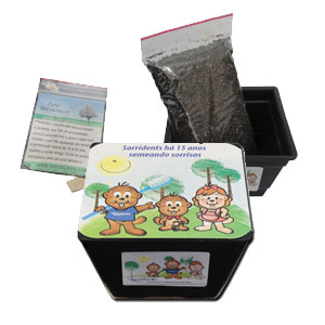 Kit para cultivo com sementes de Ipê amarelo. - SP Ecologia