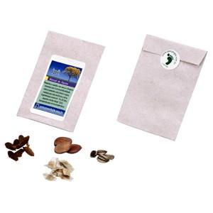 Kit com sementes personalizadas.