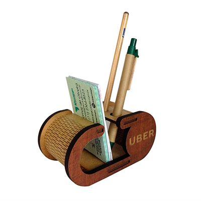 SP Ecologia - Porta cartão com lápis e caneta