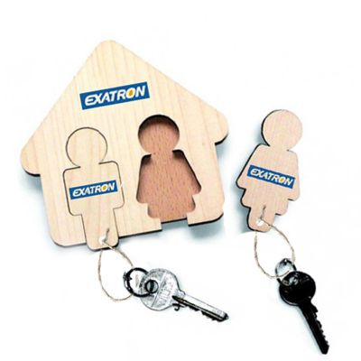 Porta chaves feito em MDF, personalizado com seu logo em 4 cores. Medidas 20 x 20 cm.