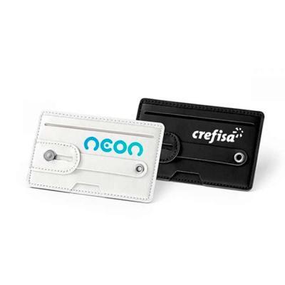 Porta cartões em PU com tecnologia de bloqueio rfid. Fita ajustável em PU. Com autocolante da mar...