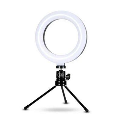 Iluminador ring light 6 polegadas led com tripé