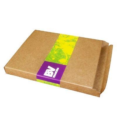 Caixas & Idéias - Caixa de corte e vinco feita em papel kraft sob medida (comprimento x largura x altura), com adesivo digital. Ideal para embalagem ou presente!  *O pr...