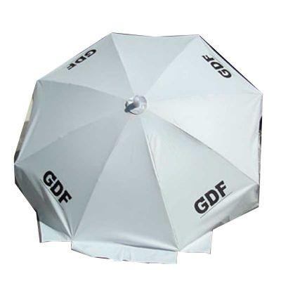 Marcfialho - Guarda-Sol 1.60 de diametro, com cabo de alumínio curvo. Personalize já um guarda sol com as características da sua marca.