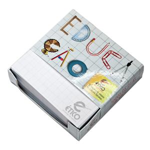 DZ9 Gráfica - Bloco caixa personalizado - Com rascunho 250 folhas - 8 x 8 cm.