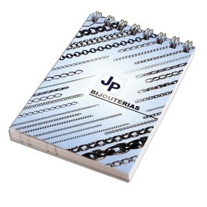 dz9-grafica - Blocos de anotações personalizado wire-o. Capa flexível em 4 cores, acabamento em wire-o, com 50 ou 100 folhas impressas em 1 X 0 cor.