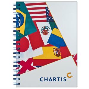 DZ9 Gráfica - Caderno Personalizado - Linha colors - Capa dura (Medidas: 21 x 28 cm) - Folha institucional, dados e calendário, 96 folhas personalizadas.