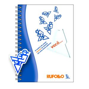 dz9-grafica - Caderno Personalizado - Linha colors com recorte - Capa dura (Medidas: 15 x 21 / 18 x 25 /21 x 28 cm) - folha institucional, dados e calendário, 96 fo...
