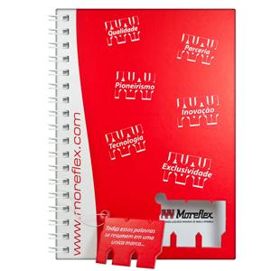DZ9 Gráfica - Caderno Personalizado - Linha colors com recorte - Capa dura 15 x 21 / 18 x 25 / 21 x 28 cm - folha institucional, dados e calendário, 96 folhas perso...