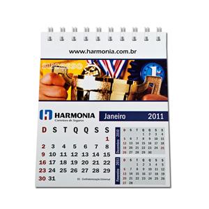 dz9-grafica - Calendário de Mesa Personalizado - Medidas: 10 x 12 cm - 6 ou 12 laminas em 4 cores.