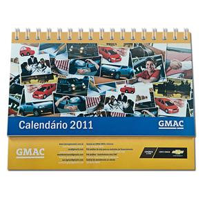 dz9-grafica - Calendário de Mesa Personalizado - Medidas: 10 x 17 cm - 6 ou 12 laminas em 4 cores - Base impressa.