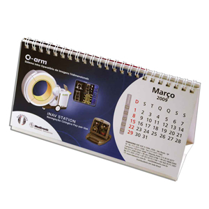 dz9-grafica - Calendário de Mesa Personalizado - Medidas: 10 x 20 cm - 6 ou 12 laminas em 4 cores.