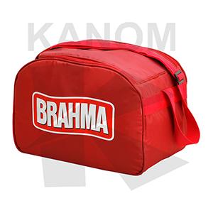 Bolsa térmica grande, capacidade para 36 latas de 350 ml ou 28 litros, confeccionada em nylon 70, logo em silk, com alça de ombro