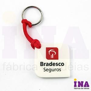 Ina Brindes - Chaveiro emborrachado com grava��o em alto relevo at� 4 cores. Desenvolvimento de formato especial exclusivo do cliente