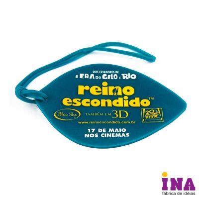 Tag de bagagem emborrachado, gravação em alto relevo até 4 cores e verso personalizável. Consulte tamanhos e formatos especiais - Ina Brindes