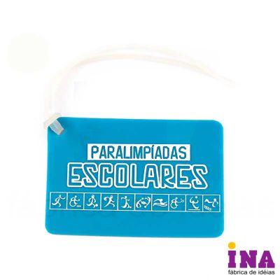 Tag de bagagem emborrachado, gravação em alto relevo até 4 cores e verso personalizável. Consulte tamanhos e formatos especiais