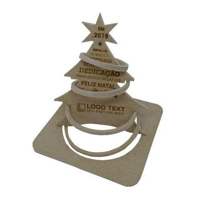 Cartão postal de natal 3D - modelo aro