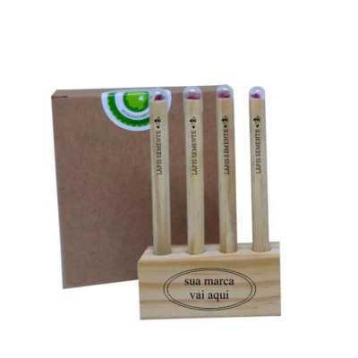 Ecologik Sustentáveis - Lápis Semente com Porta lápis