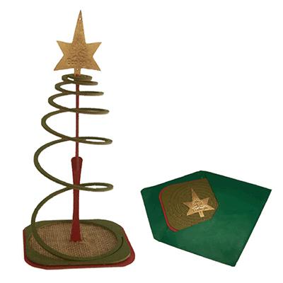�rvore de Natal com designer surpreendente, produzida  e colorida em material ecologicamente correto.