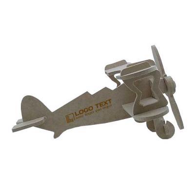 ecologik-sustentaveis - Quebra-cabeça 3D aviador - Produzido em madeira 100% proveniente de reflorestamento.  Gravação de logomarca no sistema Hotstamping sem emissão de CO²...