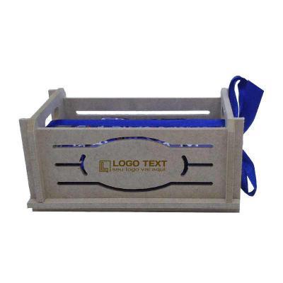 Mini caixote produzida em material 100% proveniente de reflorestamento. Gravação de logomarca no sistema Hotstamping sem emissão de CO² Dimensões exte... - Ecologik Sustentáveis