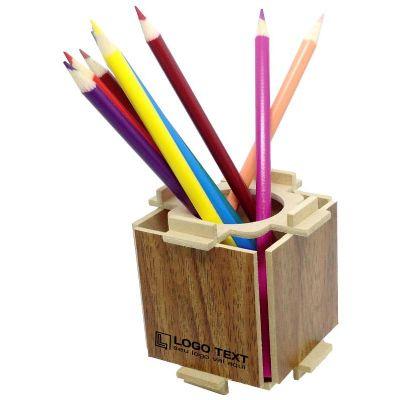 Ecologik Sustentáveis - Porta lápis Enjoy Madeira